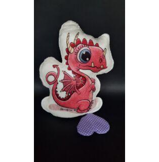 Alvóbarát formapárna Rózsaszín sárkány