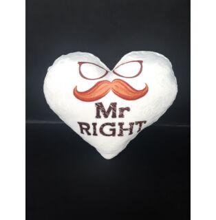 Plüss párna Szív MR.RIGHT