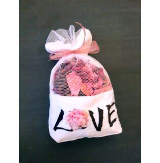 Potpurri illatzsák rózsa LOVE