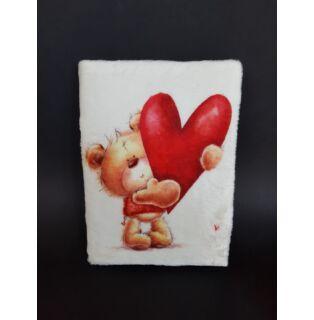 Plüss napló Macika szívvel